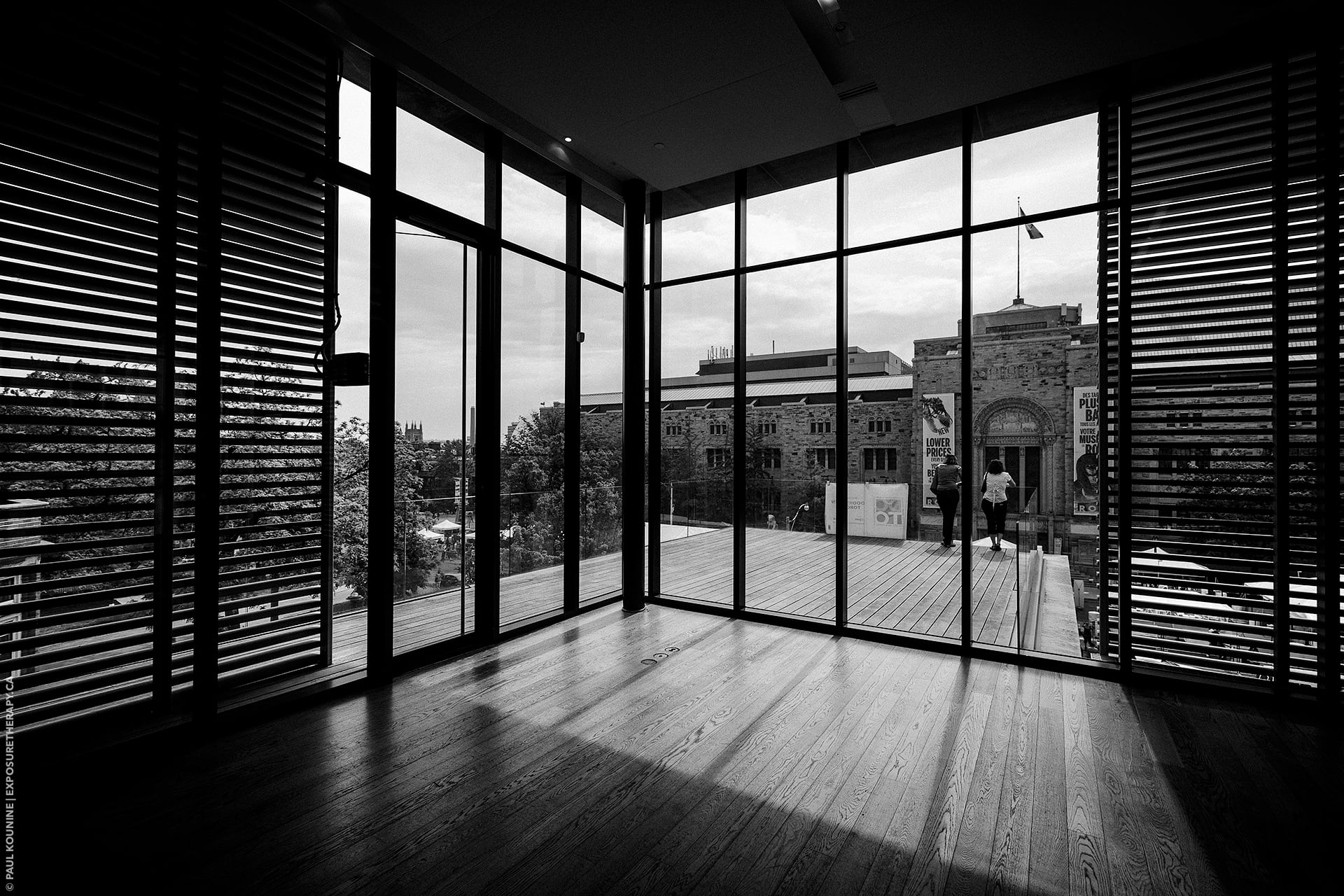 16 mm super wide-angle lens on full-frame camera, Gardiner Museum architecture in Toronto