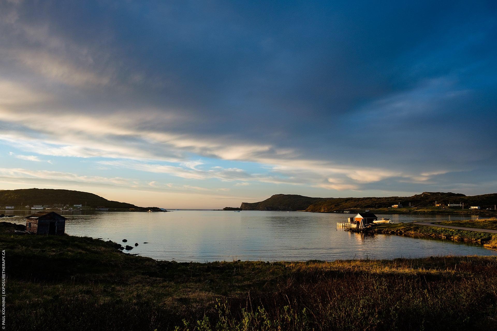 16 mm super wide-angle lens on APS-C camera, north Newfoundland bay.