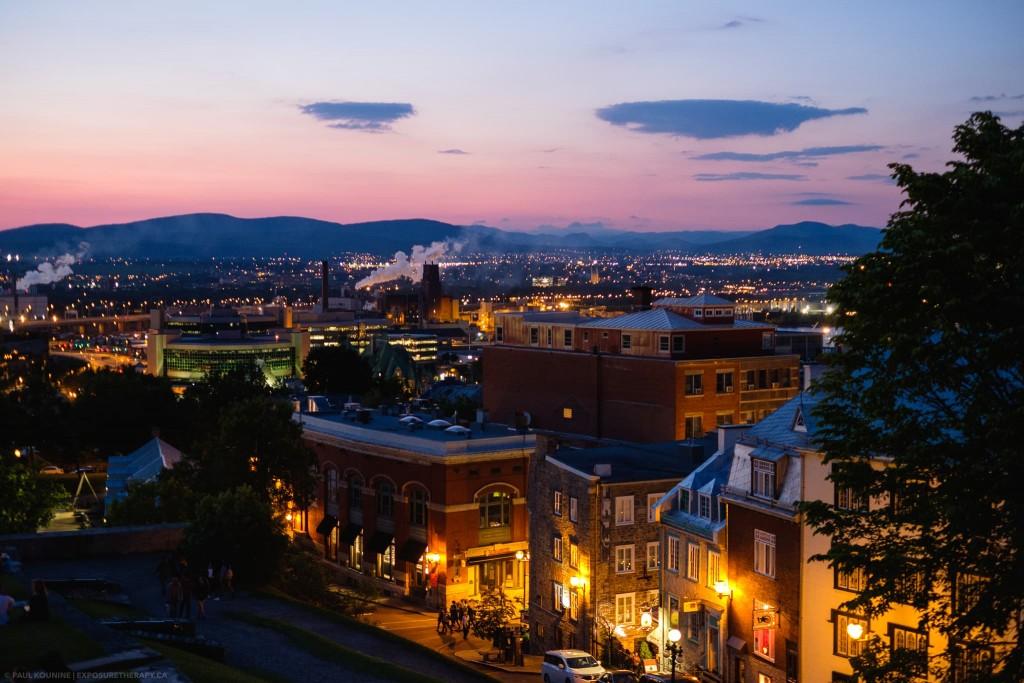Quebec City at twilight daylight white balance.